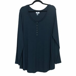 Old Navy Ribbed Henley Style Tunic Top NWOT